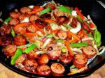 Polish Sausage with Pepper and Onions