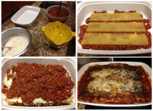Assembling Jim's Lasagna