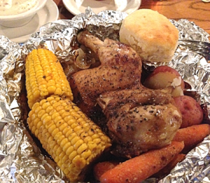 Campfire Chicken Dinner