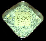 Spinach Artichoke Dip before baking