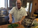 Larry Chopping Vegetable