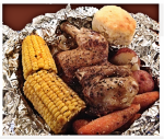 Roasted Chicken Dinner in Foil