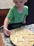 4 Year old lattices a pie