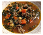 Sausage and Spinach Garbanzo Bean Soup