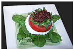 Tomato and Mozzarella Salad with Black Olive Tapenade