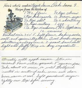 Lea's Original Recipe Card
