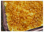 Hashbrown Casserole with Chicken Soup and Corn Flakes
