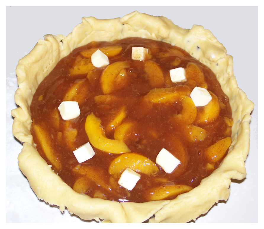 Peach Pie with Butter Dots