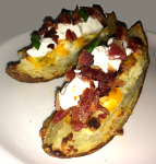 Twice Baked Potato Skins