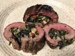 Flank Steak Bacon Spinach Roulade Medallions