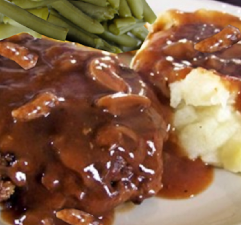 Hamburger Steak with Mushroom Gravy_sml
