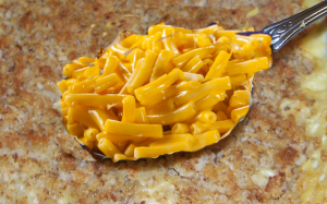 Macaroni and Cheese Casserole Spoon