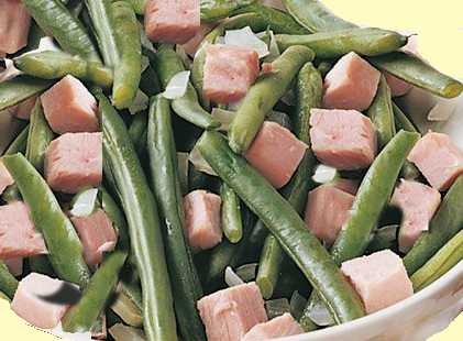 Green Beans with Shallots and Ham
